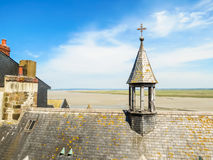 Roofs of Mont Saint-Michel, France Stock Images