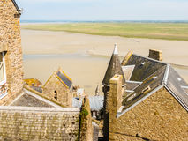 Roofs of Mont Saint-Michel, France Royalty Free Stock Photo