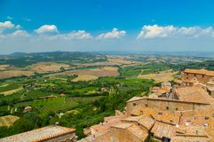 Montepulciano Roofs stock images
