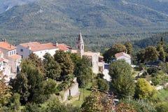Roofs of Motovun stock image