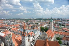 Roofs of the Munich Royalty Free Stock Photos