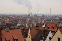 Roofs of Nürnberg in winter. Roofs of Nürnber. Winter view Royalty Free Stock Image