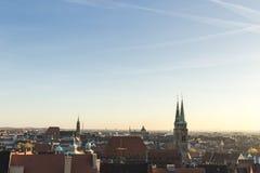 Roofs of Nuremberg, Bavaria, Germany, Stock Photo