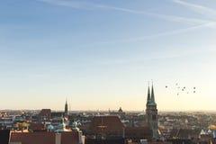 Roofs of Nuremberg, Bavaria, Germany, Royalty Free Stock Image