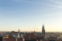 Roofs of Nuremberg, Bavaria, Germany, Royalty Free Stock Photos