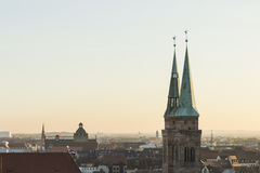 Roofs of Nuremberg, Bavaria, Germany, Stock Image