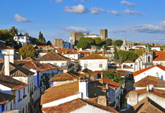 Roofs of Obidos, Portugal Royalty Free Stock Photos