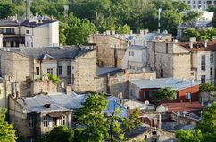 Roofs of Odessa old city center made from limestone,Ukraine Royalty Free Stock Photography
