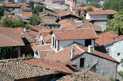 The roofs of old Ankara houses Stock Photo