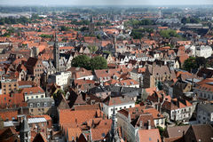 Roofs of old Brugge Stock Photos