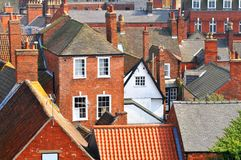 Roofs. Of old buildings in Lincoln, England Royalty Free Stock Image