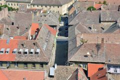 Roofs of old buildings in Petrovaradin Royalty Free Stock Image