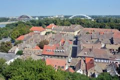 Roofs of old buildings in Petrovaradin Royalty Free Stock Images