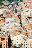 Roofs of old Catalan town. Cardona Royalty Free Stock Photos