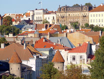 Roofs of old city. Cityscape of Tallin, capital of Estonia, Baltic Republic Royalty Free Stock Photos