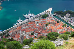 Roofs of the old city on the background of the Bay Royalty Free Stock Photo