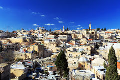 Roofs of Old City with Holy Sepulcher Chirch Dome, Jerusalem Stock Photography