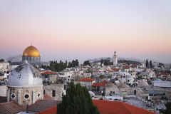 The roofs of the old city of Jerusalem Royalty Free Stock Photography
