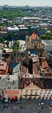 Roofs of the old city, Lviv. Old city vintage panorama with houses roofs top view, Lviv, Ukraine Stock Photo