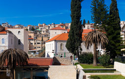 Roofs of Old City in Nazareth Stock Photography