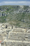 The roofs of an old house (Sasso) in Matera, Italy Royalty Free Stock Photos