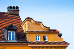 Roofs of old houses in the city Royalty Free Stock Image