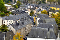 Roofs of old houses in the Old City of Luxembourg Stock Image
