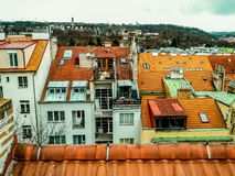Roofs of old houses in Prague royalty free stock photos