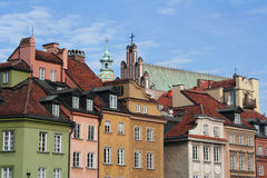 The roofs of old houses in Warsaw Royalty Free Stock Images