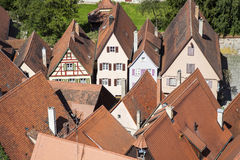 Roofs of old medieval city Royalty Free Stock Image