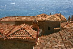 Roofs of old Monemvasia, Greece Stock Image
