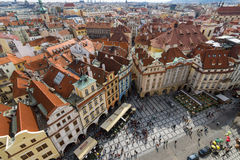 The roofs of old Prague Stock Photo