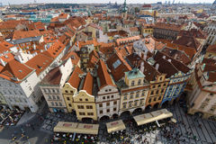 The roofs of old Prague Stock Images
