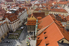 The roofs of old Prague Stock Image