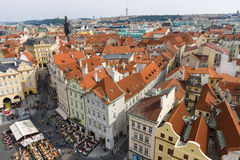 The roofs of old Prague Stock Photography
