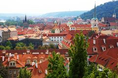 Roofs of old Prague Stock Photos