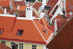 Roofs of old Tallinn Royalty Free Stock Photos