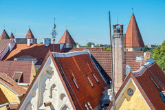 Roofs of old Tallinn. Estonia, EU Stock Images