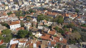 Roofs of Old Town of Athens stock footage
