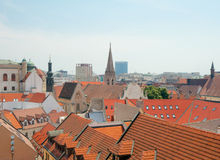 Roofs of old town, Bratislava, Slovakia Royalty Free Stock Images