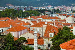 The roofs of old town Budva, Montenegro Royalty Free Stock Images