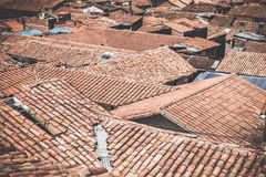Roofs in the old town of Cusco, Peru Stock Photo
