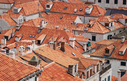 The roofs of the old town Dubrovnik Croatia Royalty Free Stock Image