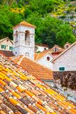 Roofs of Old town of Kotor Royalty Free Stock Image