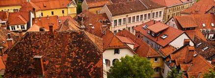 Roofs of old town in Ljubljana Stock Image