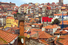 Roofs of old town, Porto, Portugal Stock Images