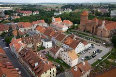 Roofs of old town of Reszel Stock Photo