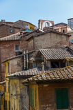 Roofs in the old town of Siena Stock Photo