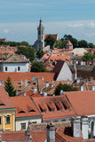 The roofs of the old town of Sopron. View from the Firewatch Tower on the roof of the old town of Sopron, important town in the transdanubia in Hungary Royalty Free Stock Photo