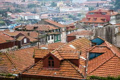 Roofs of Oporto Royalty Free Stock Photo